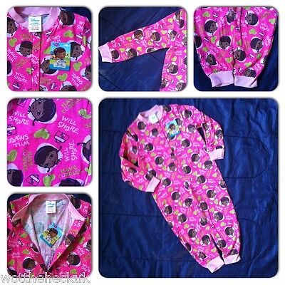 Girls Official Disney Doc McStuffins Cotton Kids Onesie All in One Pyjamas PJs