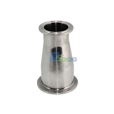 "51MM to102MM  2""to 4"" Sanitary Ferrule Reducer Fitting SS 316 to Tri Clamp"