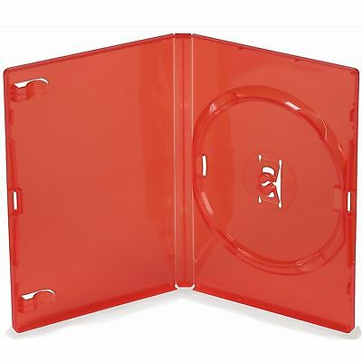 10 Single Standard Red DVD Case 14 mm Spine New Empty Replacement Amaray Cover