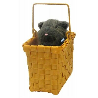 Toto in a Basket Dorothy Costume Accessory Wizard of Oz Halloween Fancy Dress