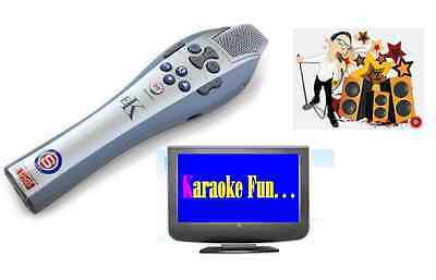 Easy Karaoke Station Machine Microphone On Screen lyrics on your TV
