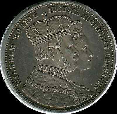Coronation of Wilhelm and Augusta  1861 thaler scarce Germany/Prussia