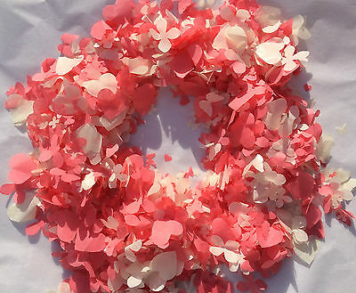 Coral Confetti Biodegradable Ivory White Butterfly Flower Hearts Sm Bags Eco