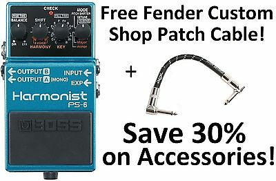 New Boss PS-6 Harmonist Pitch Shifter Guitar Effects Pedal! Free Fender Patch!