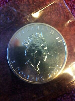 1999/2000 Canada Maple Leaf FIREWORKS PRIVY Silver 1oz Uncirculated Coin