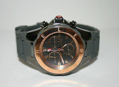 *New* MICHELE Womens WATCH Large Jelly Bean Grey Rose Gold Tahitian MWW12F000064