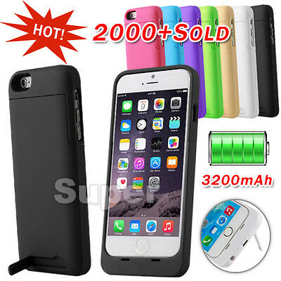 For Apple iPhone 6 Charger Case 3200mAH Power Bank Battery Backup