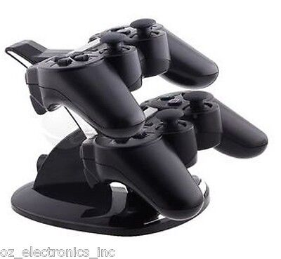 Dual stand PS3 Wireless & Wired dual controller charging stand battery charger