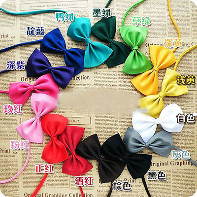 WHITE Pet Dog Cat Bowknot Tie For Fashion Bow-tie Pet Accessories LOVELY CUTE