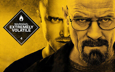 Breaking Bad Yellow Giant Poster - A0 A1 A2 A3 A4 Sizes