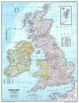 Great Britain GB Map Giant Poster - A0 A1 A2 A3 A4 Sizes