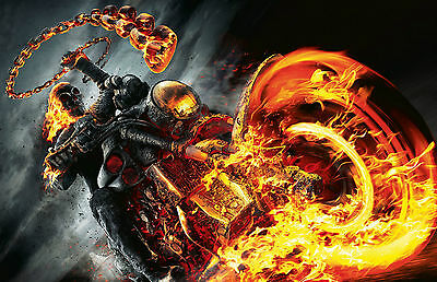Ghost Rider Skeleton Classic Movie Large Poster Art Print Maxi A1 A2 A3 A4