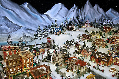 Christmas Village Scene Giant Poster - A0 A1 A2 A3 A4 Sizes