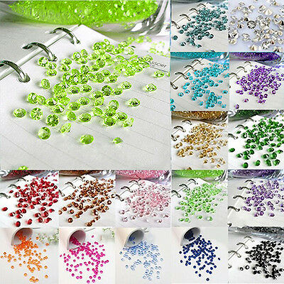 DIY 1/3ct Diamond Table Confetti Decoration Wedding Party Crystals 4.5mm 2000Pcs
