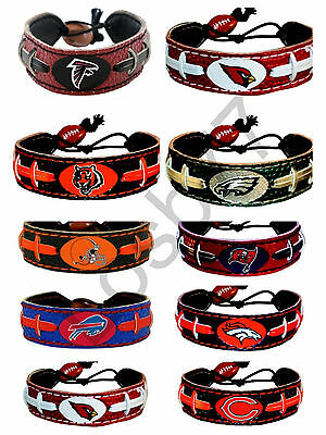 NFL Official Licensed Football Leather  Bracelet All Teams And Colors 10184
