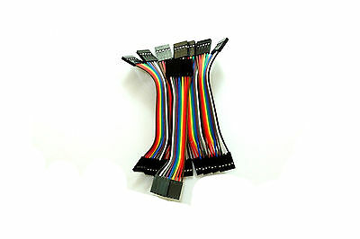 10pcs 5pin 10cm Dupont Wire Color Jumper Cable 2.54mm Female-Female For Arduino