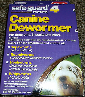 Safe-Guard Canine Dewormer (8 in 1) - New In Box - Purple or Blue Box