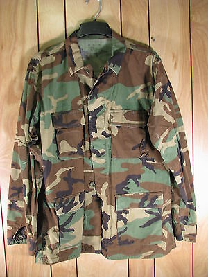US Army Military Woodland Camo Coat   Size L  Long