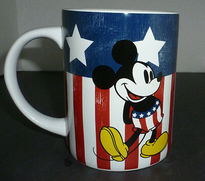 Mickey Mug Stars & Stripes Jerry Leigh Large Red White Blue