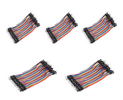 200pcs 10cm 1P Male to Male Jumper Wire Dupont Cable 2.54mm for Arduino