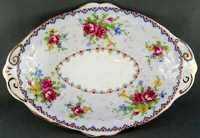 Royal Albert Petit Point Oval Shaped dish Mint Dish England RARE