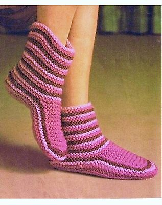Knitting Pattern For Chunky Slippers : EASY KNITTING PATTERN LADIES CHUNKY BOOT SLIPPERS
