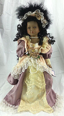 """18"""" Porcelain Doll Goldenvale With Stand Amy"""