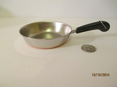 "Vtg 1801 Copper Clad SS Revere Ware TOY Mini Miniature Childs 3 7/8"" Fry Pan"