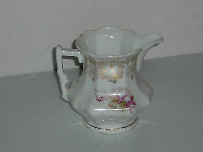 Antique Creamer Floral and Gold Trim (4 by 4.5 inch)