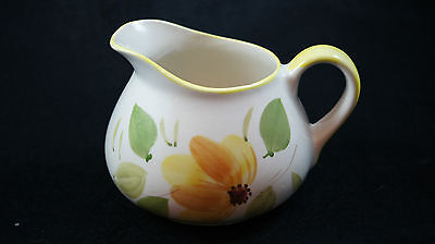 Hand Painted Yellow Floral Pitcher Pottery Made in Portugal