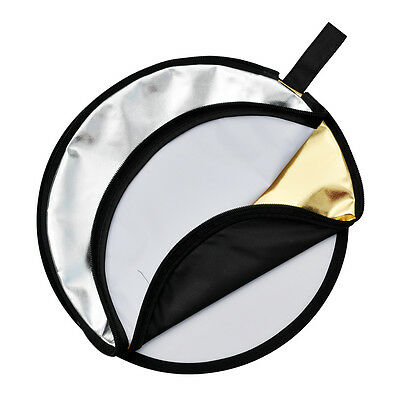 """Godox 5 in 1 Collapsible 60cm 24"""" Lighting Flash Diffuser Round Reflector Disc"""