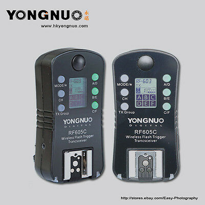 YONGNUO  RF-605C RF-605 Wireless Flash Trigger with LCD for Canon Cameras
