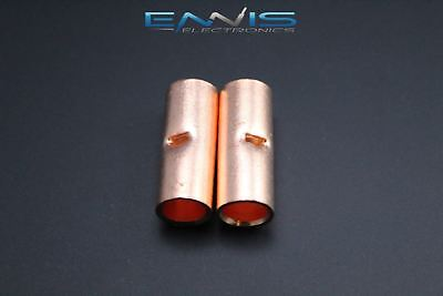 2 Gauge Copper Butt Connector 2 Pk Crimp Terminal Awg Battery Splice Cur2