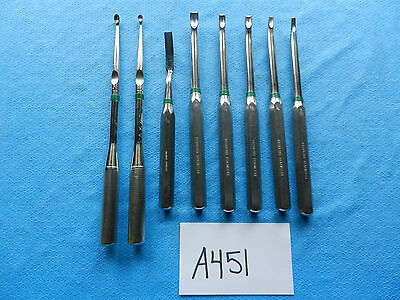 Richards Greishaber Orthopedic Neuro Spine Spinal Curettes & Gouges