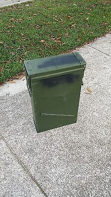 81 mm Tall Ammo Can, Military Surplus, Metal Cans