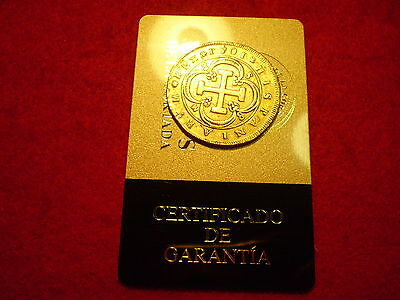 Certified 1701 Spanish Seville Gold 8 Escudos Doubloon Coin, Superb Rare Piece