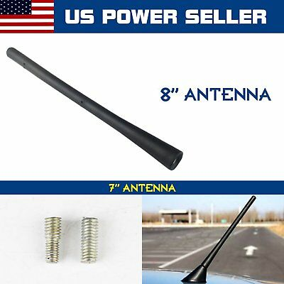 7Inch Short  Radio Antenna Aerial Stubby Black Mast With Screws For Ford