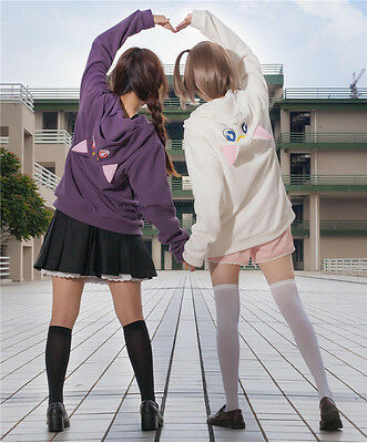 Anime Sailor Moon Cat Luna Artemis Hoody Sweatershirt Zip Hoodie Cosplay Costume