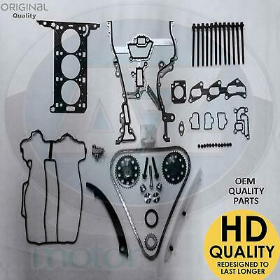 Agila Corsa 1.0 Z10XEP Twin port Engine Timing chain kit head gasket bolts new