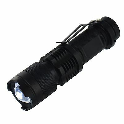 New 3w 1200LM Zoomable Adjustable Mini Flashlight Torch Focus Light Camping Lamp