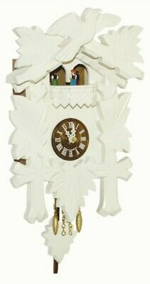 Kuckulino Black Forest Clock with quartz movement and cuc.. TU 2018 PQ weiss NEW