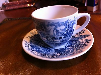 """VINTAGE ENOCH WEDGWOOD  """"COUNTRYSIDE"""" PATTERN ENGLISH CUP AND SAUCER"""
