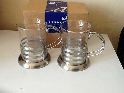 2 x LaCafetiere Stainless Steel Coffee Cups -  New