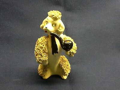 Vintage Spaghetti Poodle Porcelain with Pipe and Black Tie