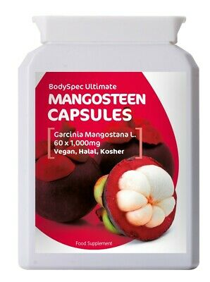 Mangosteen Extract, Whole Fruit, 60x1000mg, BodySpec Ultimate, RRP £11.95