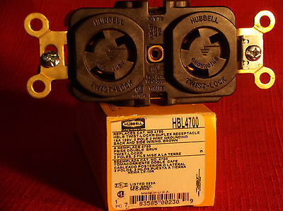Hubbell HBL4700 Duplex Receptacle 15A 125V 2 Pole 3 Wire NEW