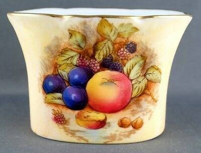 Aynsley Orchard Gold Fruit Toothpick Holder Pattern 1325 Artist Signed D Jones