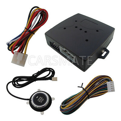 Smart Remote Start Car Module With Engine Start & Stop Push Button For All Cars