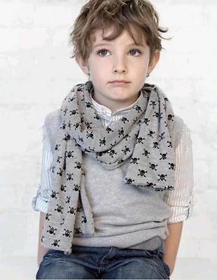 2015 Fashion Boy's Scarf Children Skull Printed Kid's Casual Warmer Scarves New