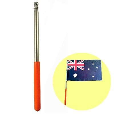 """New 47"""" Stainless Steel Telescoping Flagpole For Banner Flag Collapsable Poles"""